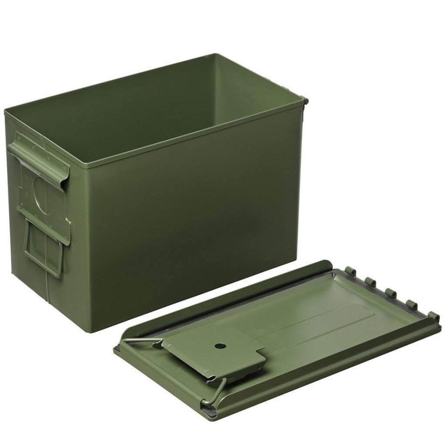 AMMO BOX アンモボックス M2A1タイプ Fat .50タイプ SAW ミリタリー メタルストレージボックス カー用品 ツールボックス 工具箱 小物 US 米軍 HERITAGE|lily-birch|02