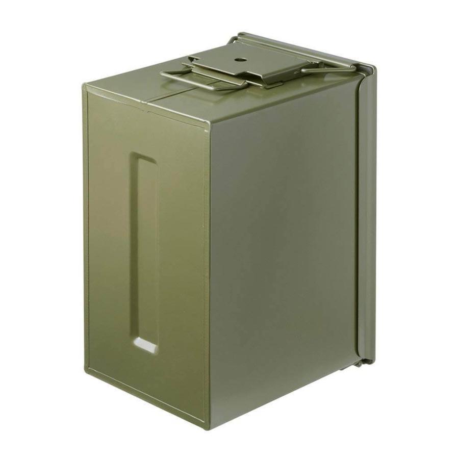 AMMO BOX アンモボックス M2A1タイプ Fat .50タイプ SAW ミリタリー メタルストレージボックス カー用品 ツールボックス 工具箱 小物 US 米軍 HERITAGE|lily-birch|03