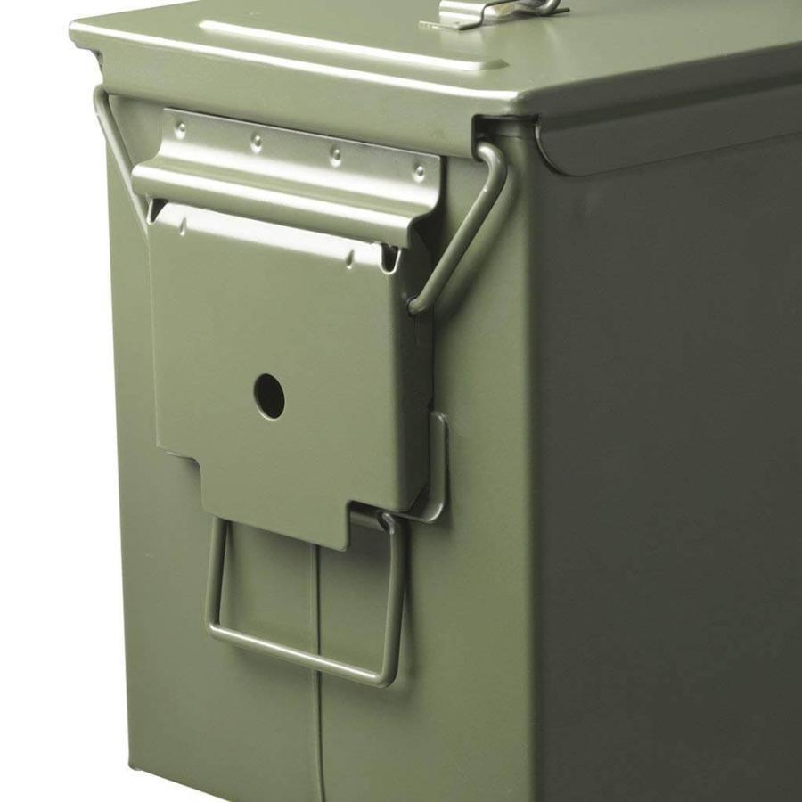 AMMO BOX アンモボックス M2A1タイプ Fat .50タイプ SAW ミリタリー メタルストレージボックス カー用品 ツールボックス 工具箱 小物 US 米軍 HERITAGE|lily-birch|06