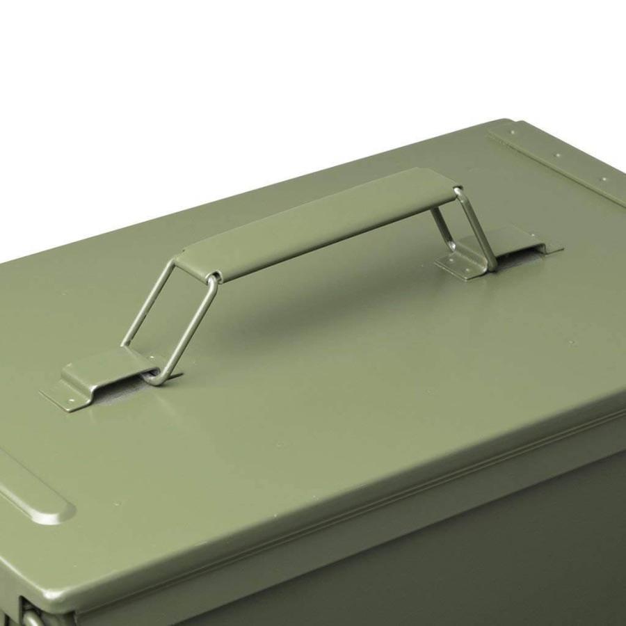 AMMO BOX アンモボックス M2A1タイプ Fat .50タイプ SAW ミリタリー メタルストレージボックス カー用品 ツールボックス 工具箱 小物 US 米軍 HERITAGE|lily-birch|07