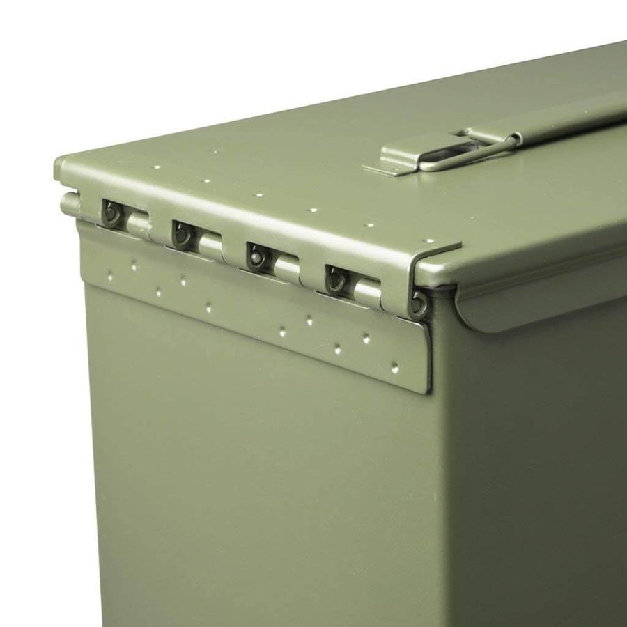 AMMO BOX アンモボックス M2A1タイプ Fat .50タイプ SAW ミリタリー メタルストレージボックス カー用品 ツールボックス 工具箱 小物 US 米軍 HERITAGE|lily-birch|08