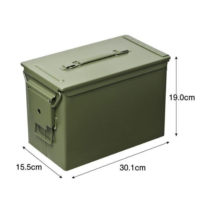 AMMO BOX アンモボックス M2A1タイプ Fat .50タイプ SAW ミリタリー メタルストレージボックス カー用品 ツールボックス 工具箱 小物 US 米軍 HERITAGE|lily-birch|09