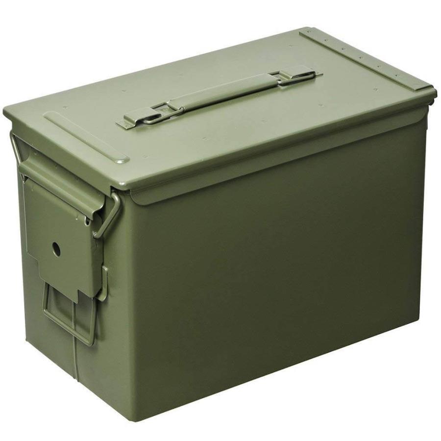 AMMO BOX アンモボックス M2A1タイプ Fat .50タイプ SAW ミリタリー メタルストレージボックス カー用品 ツールボックス 工具箱 小物 US 米軍 HERITAGE|lily-birch|10