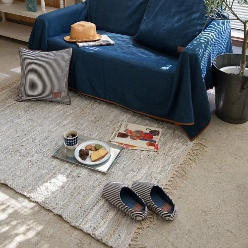 Suave Textile ルームシューズ インディゴ  デニム スリッパ lily-birch 03