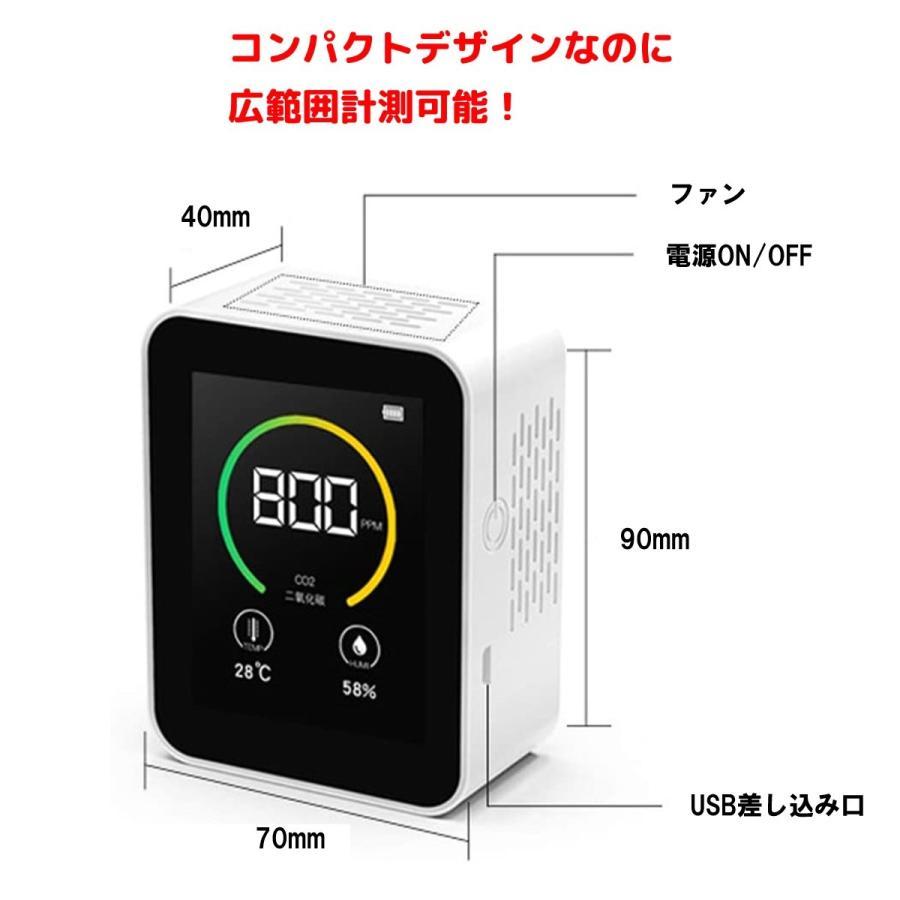 【テレビで紹介】CO2センサー 二酸化炭素 濃度計 測定器 計測 計測器 飲食店 予防 気温 湿度 センサー CO2 三密 goto lime-shop-japan 06
