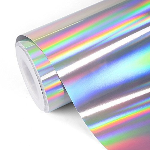 TECKWRAP カッティングシート ホログラム ホログラフィック 高価値 メッキ クローム 2020 新作 艶あり グロス シルバー 152cm×30cm 光沢 銀
