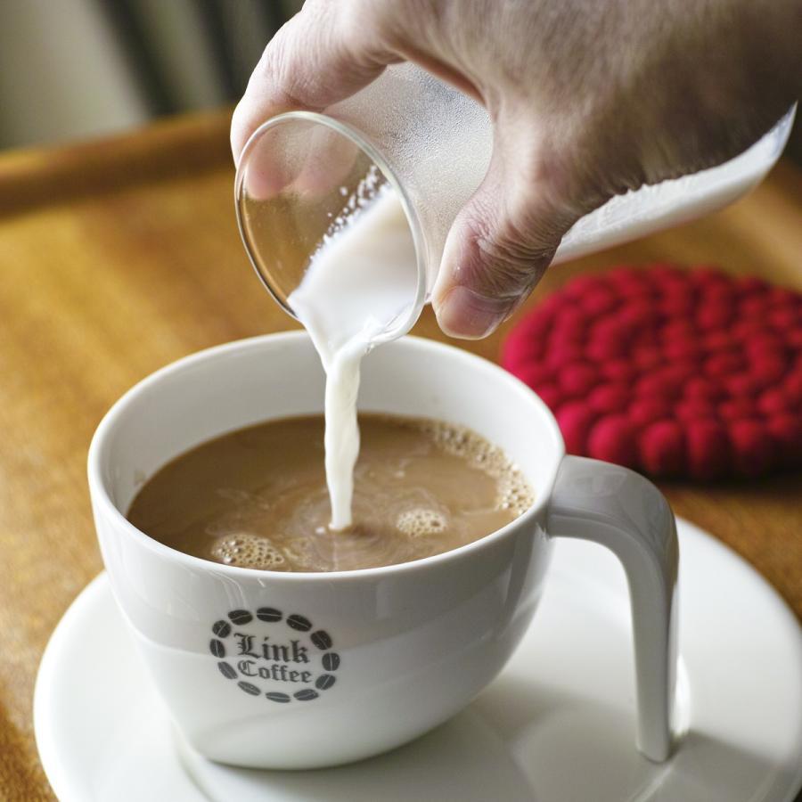 カフェオレ専用ブレンド 自家焙煎 コーヒー豆 200g link-coffee