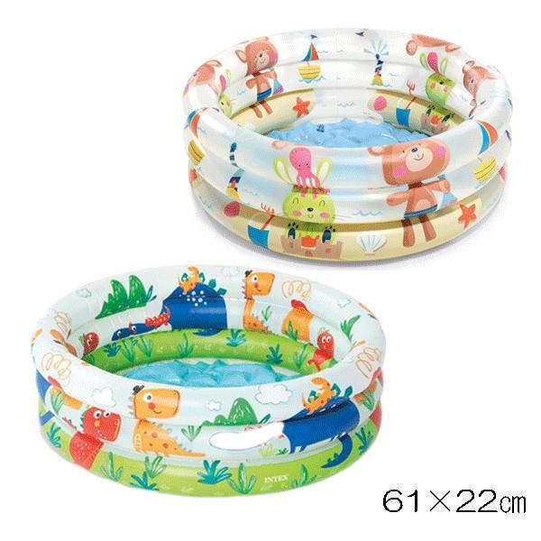 ビニールプール 小さい 完売 赤ちゃん用 ベビープール ソフトクッション 家庭用プール Seasonal Wrap入荷 くま うさぎ ベランダ