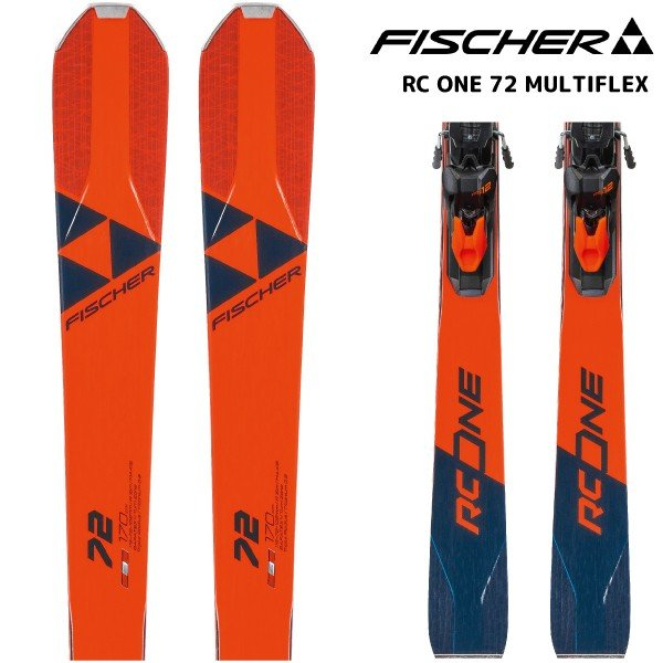 19-20 FISCHER(フィッシャー)【早期予約/金具付】 RC ONE 72 MULTIFLEX(RCワン72 マルチフレックス 金具付)【スキー板/取付料無料】