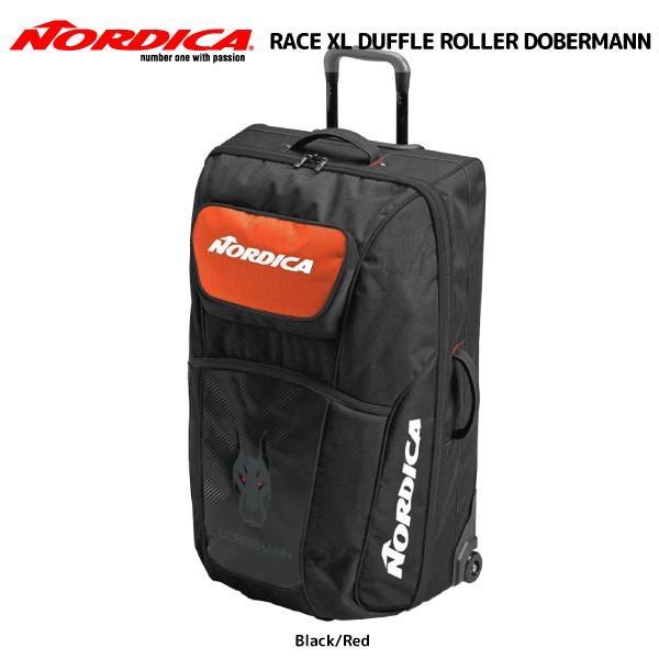 19-20 NORDICA(ノルディカ)【バック/数量限定】 RACE XL DUFFLE ROLLER DOBERMANN(レースXLダッフル ローラー ドーベルマン)【ローラー付きバッグ】