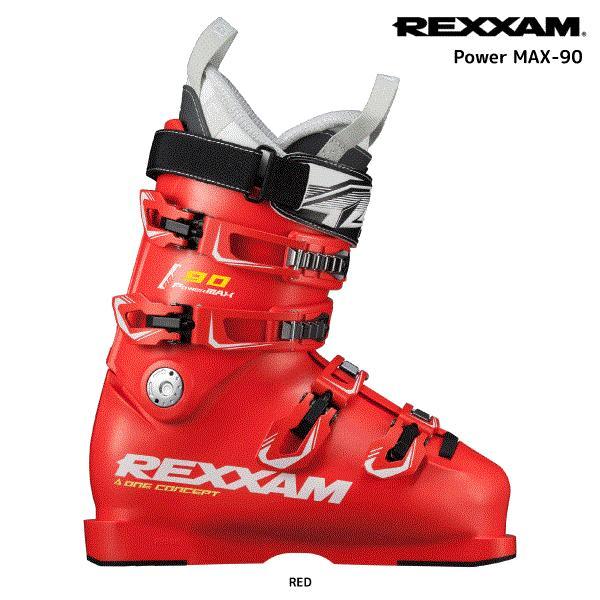 19-20 REXXAM(レクザム)【限定予約品/スキー靴】 PowerMAX 90 赤(パワーマックス90 レッド)CX-SSインナー【スキーブーツ】