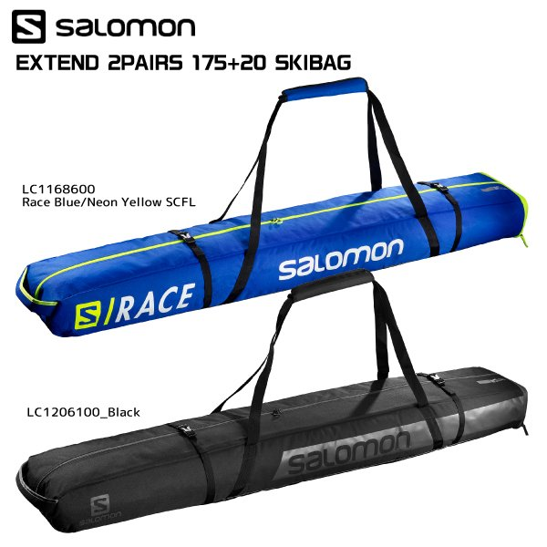 19-20 SALOMON(サロモン)【数量限定/ギア小物】 EXTEND 2PAIRS 175+20 SKIBAG(エクステンド 2ペア 175+20スキーバッグ)【2台入スキーケース】