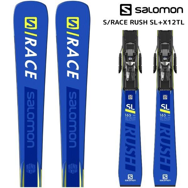 18-19 SALOMON(サロモン)【在庫処分/スキー板】 S/RACE RUSH SL + X12TL(エスレースラッシュSL 金具付)【金具取付無料】