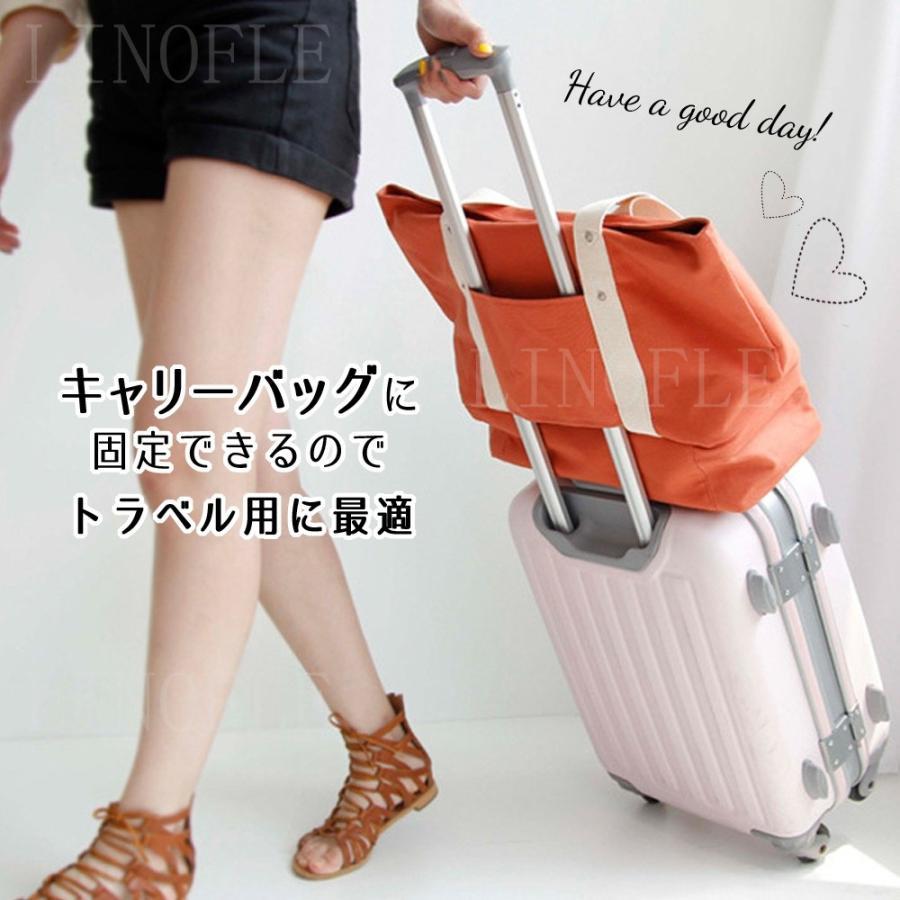 旅行バッグ レディース トートバッグ 旅行鞄 マザーズバッグ ジムバッグ 大容量 靴も入る 2層 旅行 トラベル キャリーオンバッグ|linofle|04