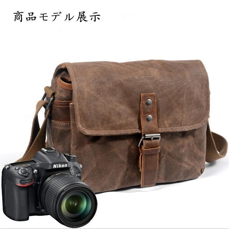 カメラバッグ ショルダー ミラーレス 一眼 一眼レフ カメラ 防水 ファッション バッグ かばん 鞄 カバン 保護 撮影 写真 アウトドア 散歩 旅行|linqiu-741213|15