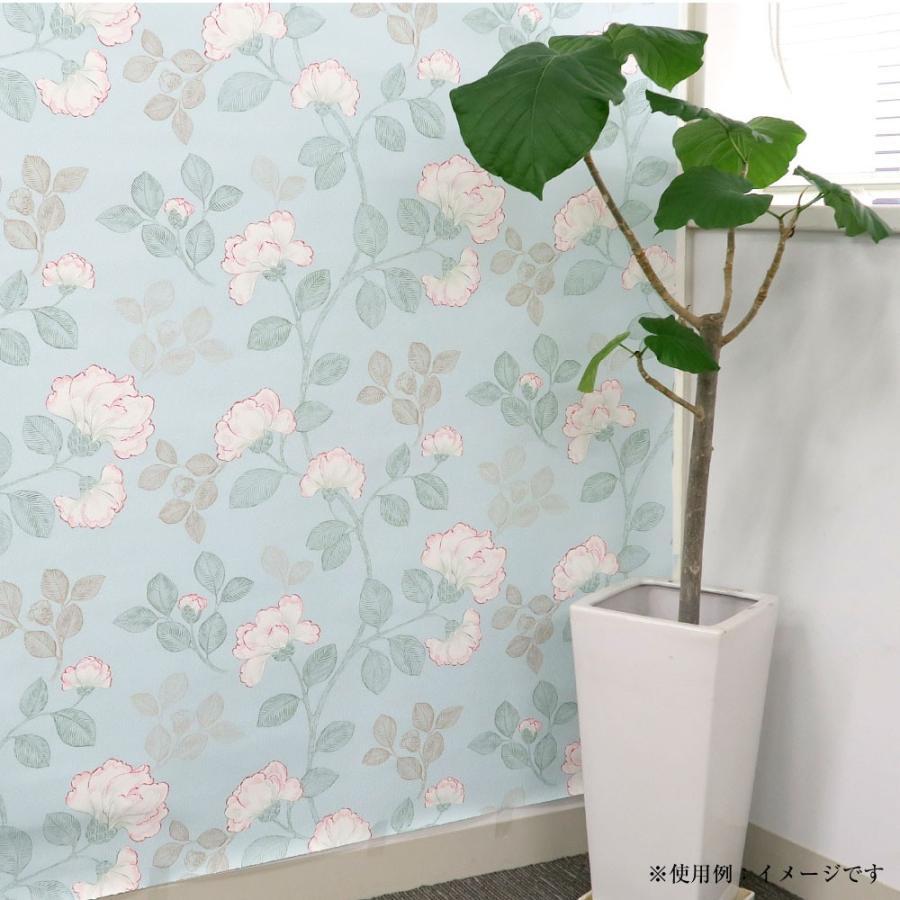 生のり付き壁紙レトロな花柄アジアン風今貼ってある壁紙の上から貼れる