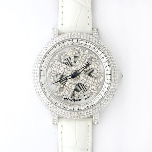 【時間指定不可】 アンコキーヌ ネオ 40mm バイカラー ミニクロス シルバーベゼル インナーベゼルクリアー ホワイトベルト イール 正規品(腕時計・グルグル時計), ラグマート e405a285