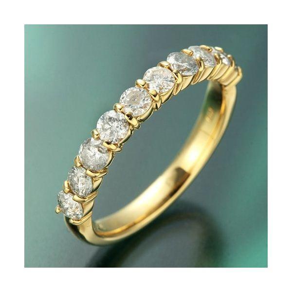 正規激安 K18YG(イエローゴールド) ダイヤリング 指輪 1.0ctエタニティリング 15号, いーでん a8caa44b