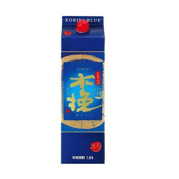 優先配送 期間限定特価品 送料無料 雲海酒造 木挽 BLUE ブルー パック 1800ml 1.8L×6本 20度
