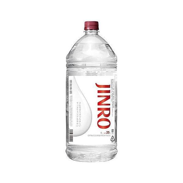 送料無料 JINRO 現品 ジンロ 25度 4000ml 4L×4本 超特価SALE開催 1ケース