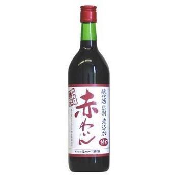送料無料 シャトー 勝沼 酸化防止剤 無添加 赤わいん 甘口 720ml 瓶 1ケース(12本入り)