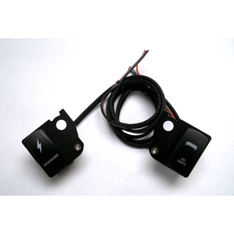 spyderextras製 CAN-AM SPYDER F3用 DOCKING STATION 追加モジュール用スイッチ(2スイッチ)|lirica-store