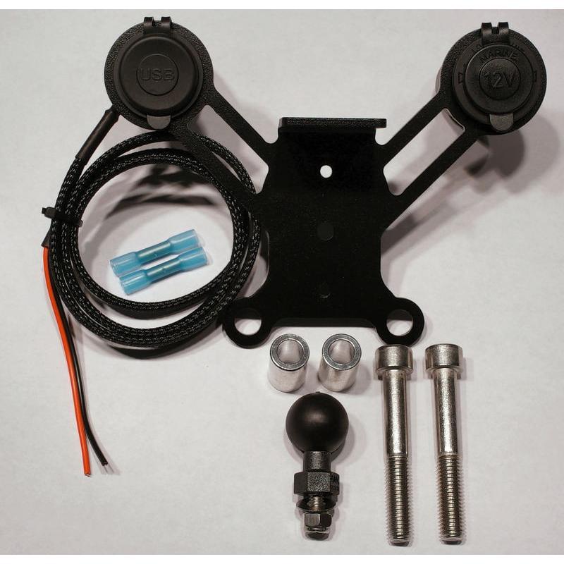 spyderextras製 CAN-AM SPYDER RT用 12ボルトソケット&USBのドッキングステーション 〜2019年モデル用 lirica-store