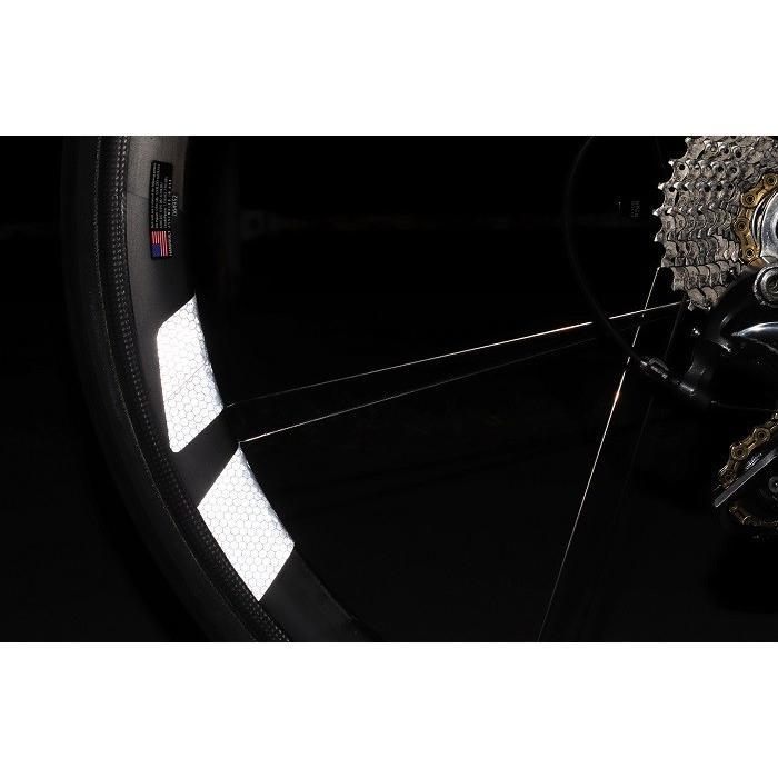 マイクロプリズム高輝度再帰性反射 ホイールステッカー WHEEL REFLECTOR 1台分8枚セット ロードバイク リフレクター 反射シール 反射ステッカー 反射シート|liten-up|05