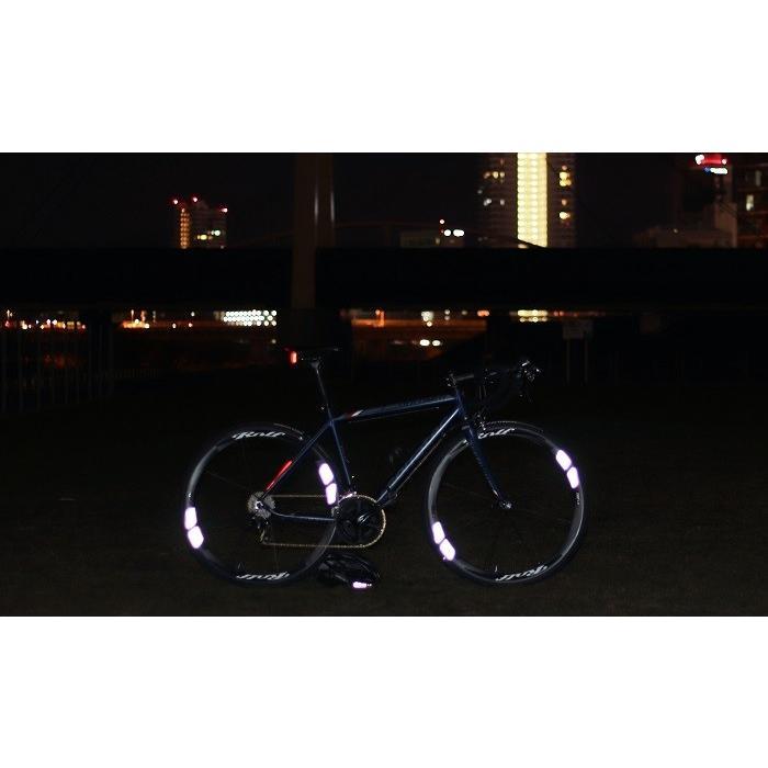 マイクロプリズム高輝度再帰性反射 ホイールステッカー WHEEL REFLECTOR 1台分8枚セット ロードバイク リフレクター 反射シール 反射ステッカー 反射シート|liten-up|06