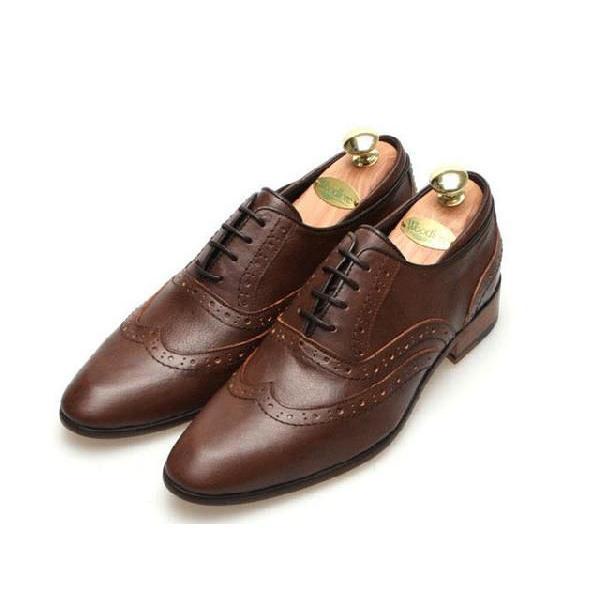 本革 ウイングチップ メダリオン 紳士靴 靴 ビジネスシューズ ウィングチップ fa1441q little-globe 03
