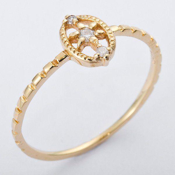 安価 K10イエローゴールド 天然ダイヤリング 指輪 ダイヤ0.04ct 12.5号 アンティーク調, パールコレクション SHINWA:46991558 --- taxreliefcentral.com