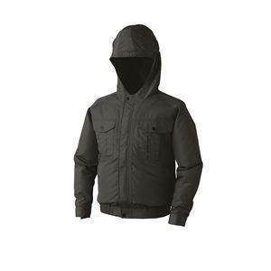 空調服 フード付き ポリエステル製長袖ワークブルゾン リチウムバッテリーセット BP-500FC69S3 チャコール L