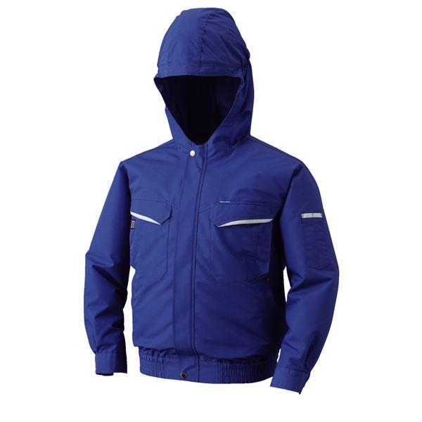 空調服 フード付綿・ポリ混紡 長袖ワークブルゾン リチウムバッテリーセット BK-500FC04S6 ブルー 4L