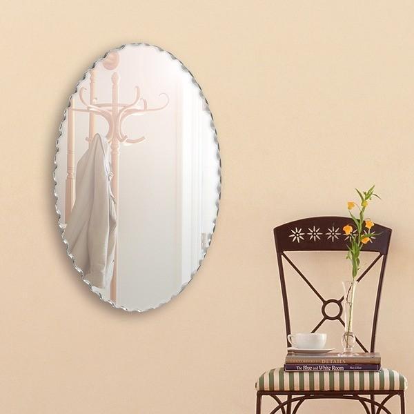 デザイン ウォールミラー/壁掛け鏡 ウォールミラー/壁掛け鏡 〔幅40cm×奥行3cm×高さ60cm〕 飛散防止加工〔代引不可〕