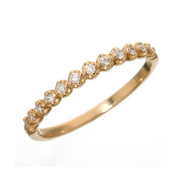 【保証書付】 K18 ダイヤハーフエタニティリング ピンクゴールド 7号 指輪, セミネチョウ 3625aefc