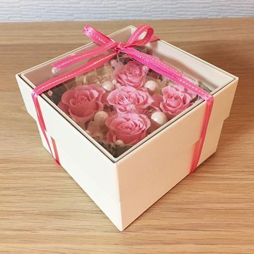プリザーブドフラワー ボックス 誕生日 結婚祝い 花 ギフト プレゼント ピンク|littleangel|03