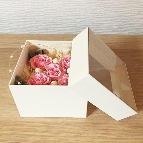 プリザーブドフラワー ボックス 誕生日 結婚祝い 花 ギフト プレゼント ピンク|littleangel|04