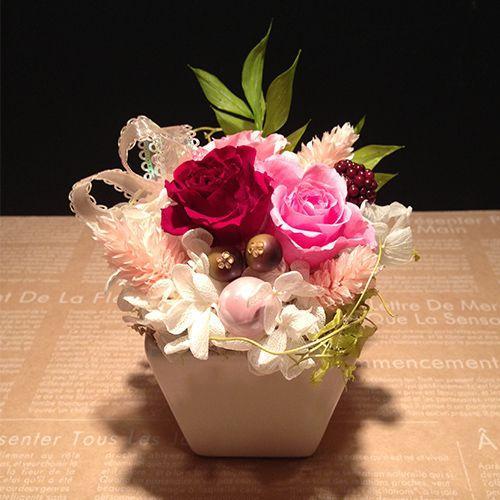 プリザーブドフラワーギフト プリザーブドフラワー プリザ プリザーブド  誕生日 結婚祝い 花  プレゼント  ストロベリー littleangel 02