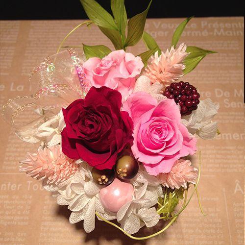 プリザーブドフラワーギフト プリザーブドフラワー プリザ プリザーブド  誕生日 結婚祝い 花  プレゼント  ストロベリー littleangel 03