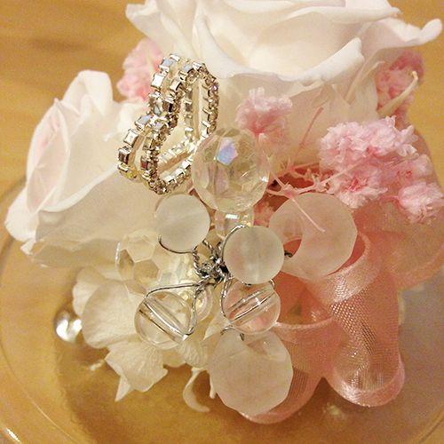 プリザーブドフラワー ガラス ドーム  誕生日 結婚祝い エンジェルローズ|littleangel|05