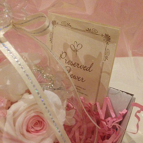プリザーブドフラワー ガラス ドーム  誕生日 結婚祝い エンジェルローズ|littleangel|06