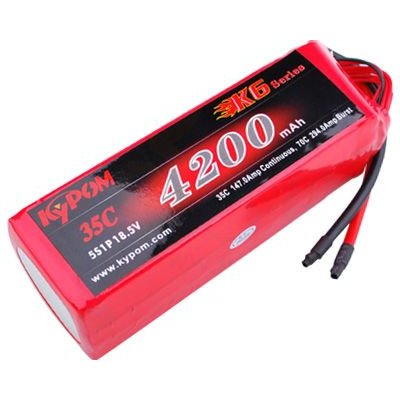 キーポン KYPOM リポバッテリー K6 新作からSALEアイテム等お得な商品 満載 KT4200 当店限定販売 35-5S 18.5V4200mAh 35C