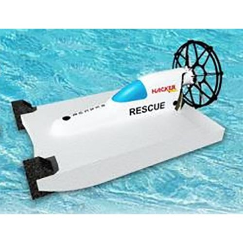 HM レスキュー・フロートプロペラボート ホワイト(フルバージョン モーター+アンプ+サーボ付属) - HC2520(D) RESCUE Float Full Version