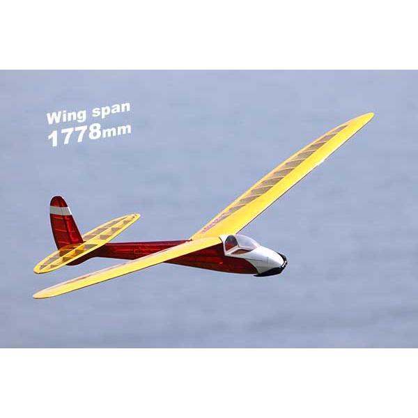 PILOT レトロRCグライダー セサミ70 12167 バルサキット 激安通販専門店 大好評です 1.778m