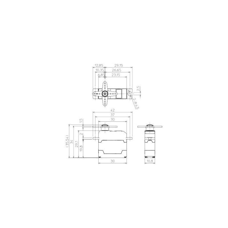 FUTABA グライダー/小型飛行機用 S.BUSハイボルテージサーボ S3174SV|littlebellanca|03