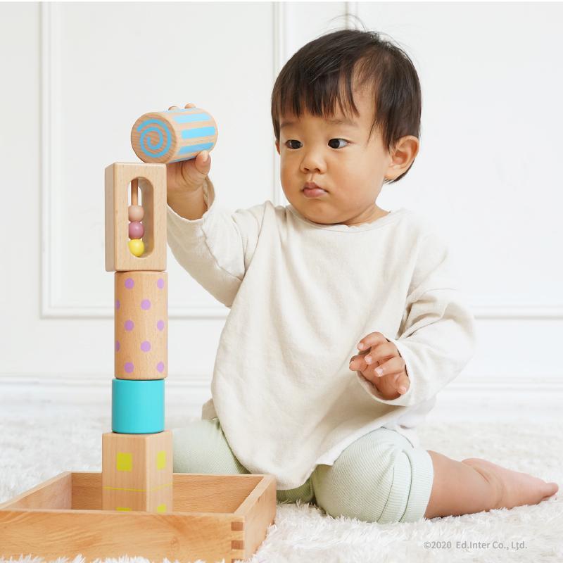 『音いっぱいつみき』出産祝い 木のおもちゃ はじめてのおもちゃ 知育玩具 誕生日プレゼント 男の子 女の子 長く遊べる[a3146838] littlegenius 06