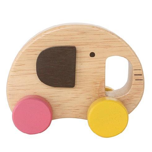 『Elephant Car』出産祝い 木のおもちゃ はじめてのおもちゃ 知育玩具 誕生日プレゼント 男の子 女の子 長く遊べる[a31310162]|littlegenius|02