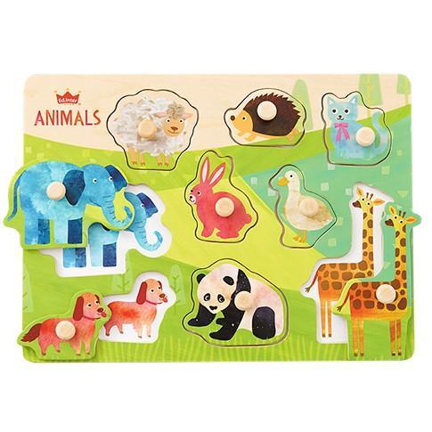 『木のパズル なかよしどうぶつ』出産祝い 木のおもちゃ はじめてのおもちゃ 知育玩具 誕生日プレゼント 男の子 女の子[a31310171]|littlegenius|02