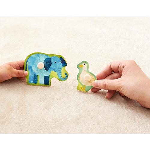 『木のパズル なかよしどうぶつ』出産祝い 木のおもちゃ はじめてのおもちゃ 知育玩具 誕生日プレゼント 男の子 女の子[a31310171]|littlegenius|03