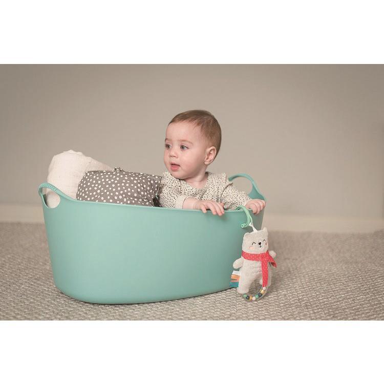 『しろくまのラトル』出産祝い 布のおもちゃ はじめてのおもちゃ 知育玩具 誕生日プレゼント 男の子 女の子 長く遊べる[a3131019] littlegenius